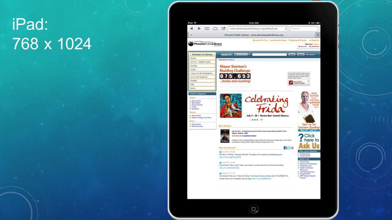 iPad: 768 x 1024