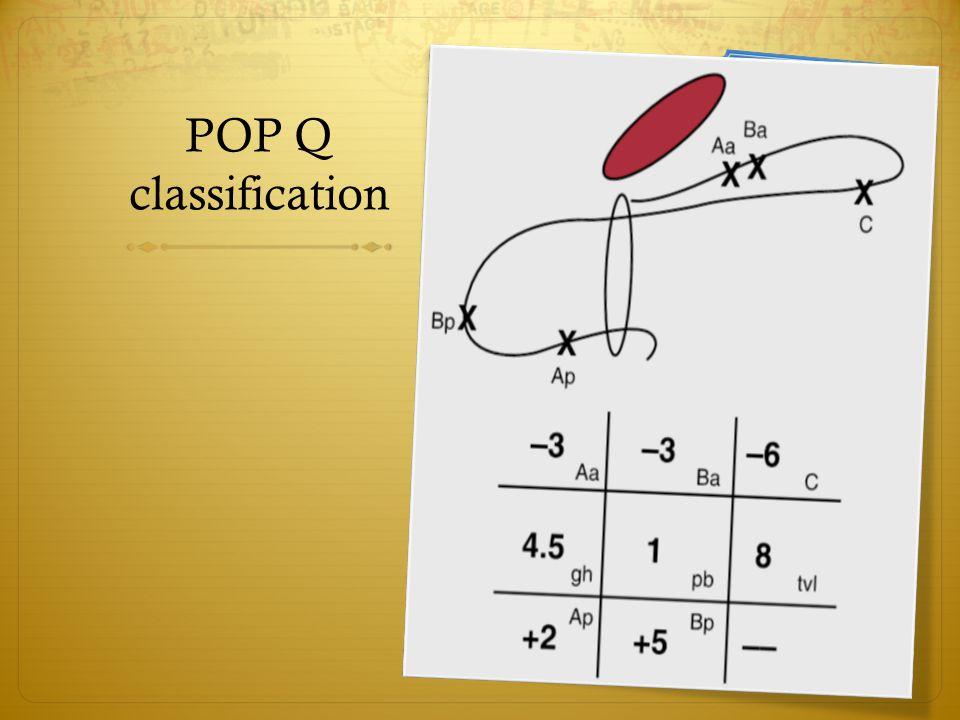 POP Q classification
