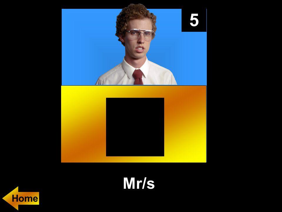 5 Mr/s