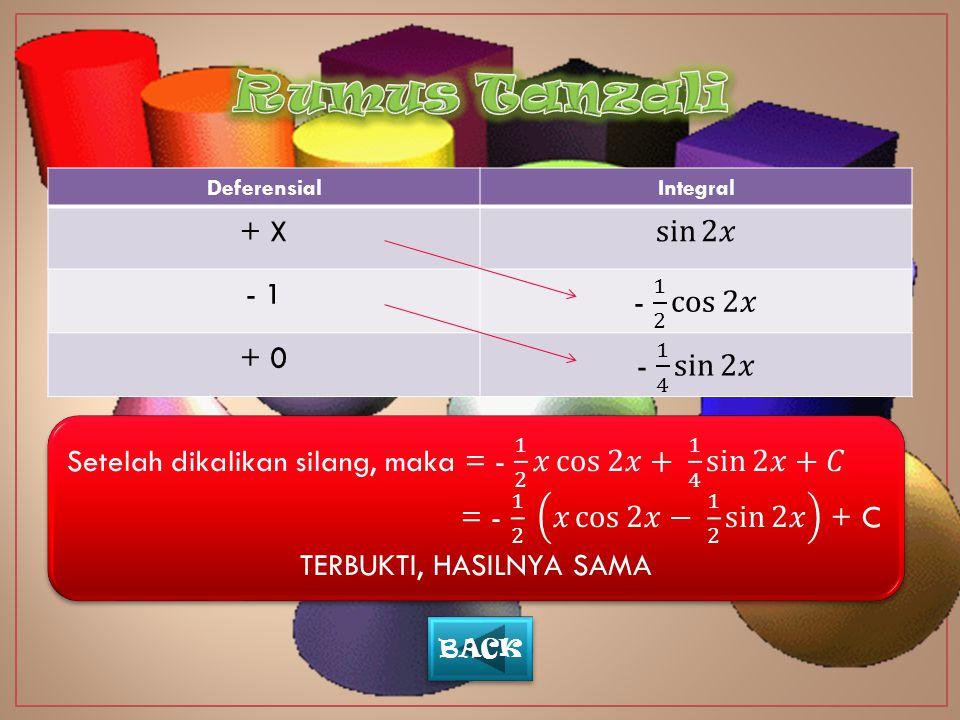 DeferensialIntegral + X - 1 + 0 BACK