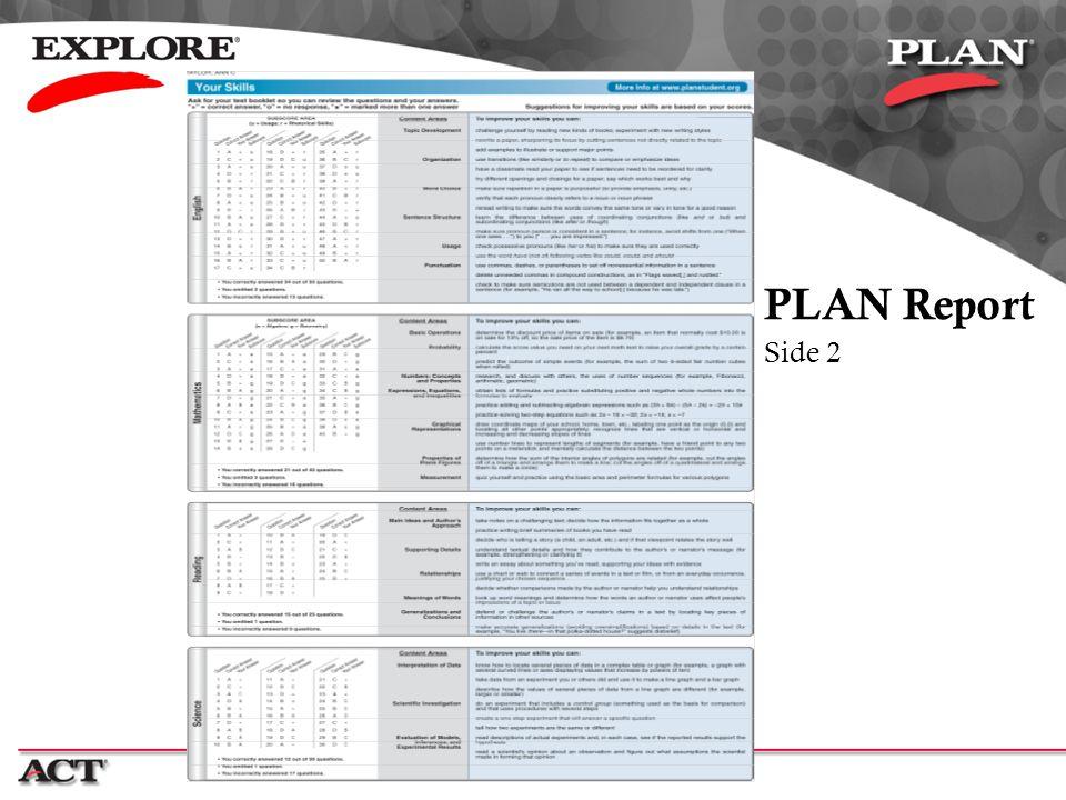 PLAN Report Side 2
