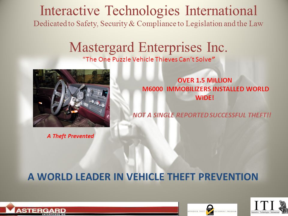 Interactive Technologies International Dedicated to Safety, Security & Compliance to Legislation and the Law Mastergard Enterprises Inc.