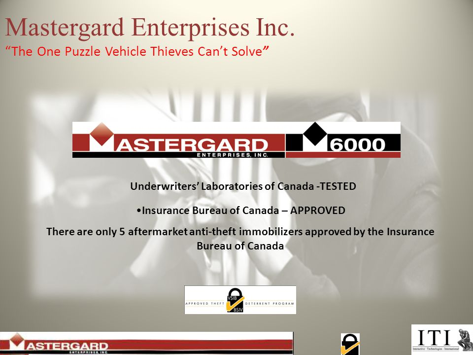 Next Step: Contact: Michael Bookbinder Interactive Technologies International Mastergard Manufacturer's Agent: Ontario and Eastern Provinces michael@itiinternational.com 1 (905) 689-4838 1 (877) 679-7484 Check out our other safety, security and compliance solutions ( www.itiinternational.com ):www.itiinternational.com FleetSafer, FleetSafer Vision, TeenSafer, TGI-Connect Trailer Tracking, GPS/AVL Fleet Management, Legal Admissibility, Privacy