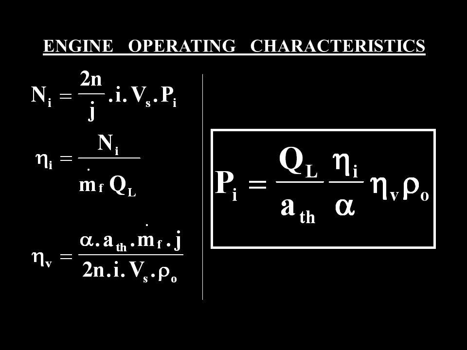 ENGINE OPERATING CHARACTERISTICS
