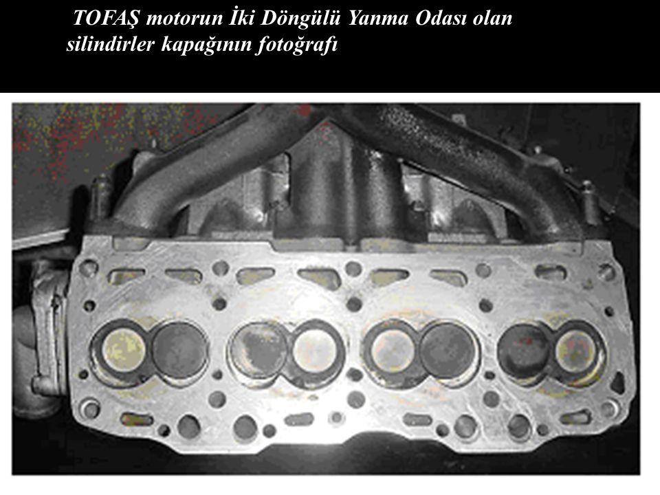 TOFAŞ motorun İki Döngülü Yanma Odası olan silindirler kapağının fotoğrafı