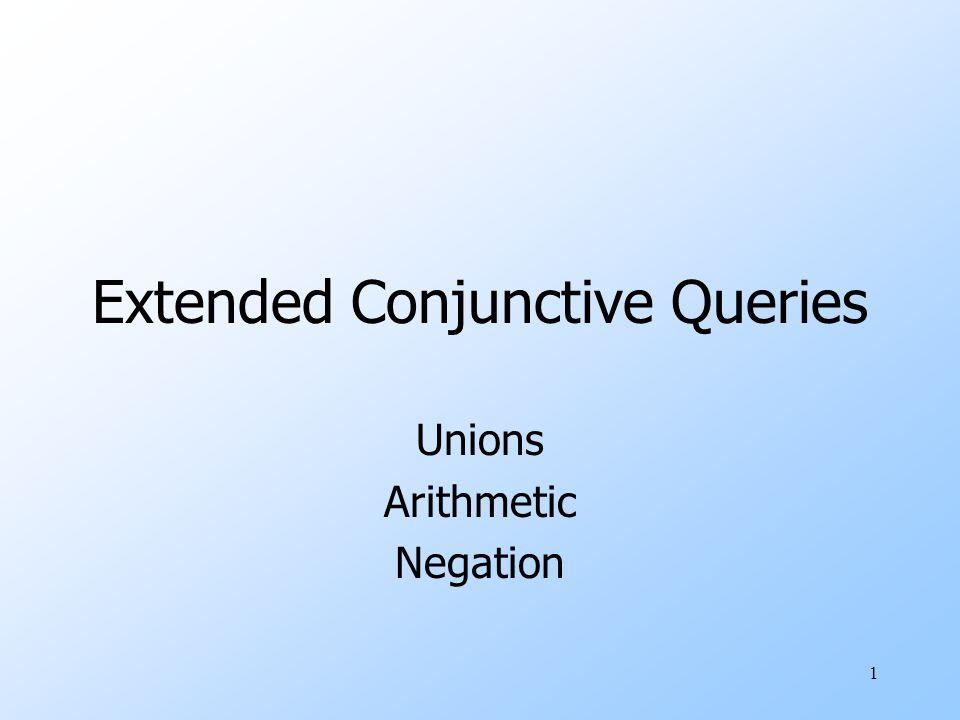 2 Containment of Unions of CQ's uTheorem: P 1  …  P k  Q 1  …  Q n if and only if for each P i there is some Q j such that P i  Q j.