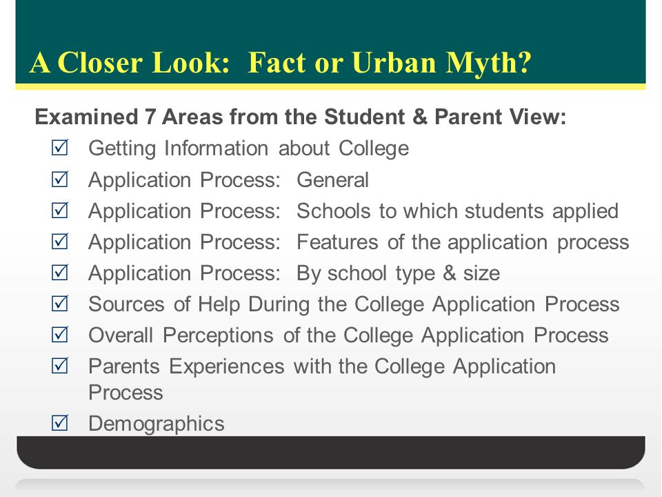 Part II: Complexity Report  Objective:  To understand how much, when and why students – particularly those form disadvantaged backgrounds – fall out of the process or otherwise aim too low in pursing college, given their academic qualifications  If complexity in the application process is not a significant factor (see Phase I research findings), what other factors are impacting college attendance outcomes  Target Populations  Low-Income, low-socioeconomic status, first-generation  Release Date  Fall 2011