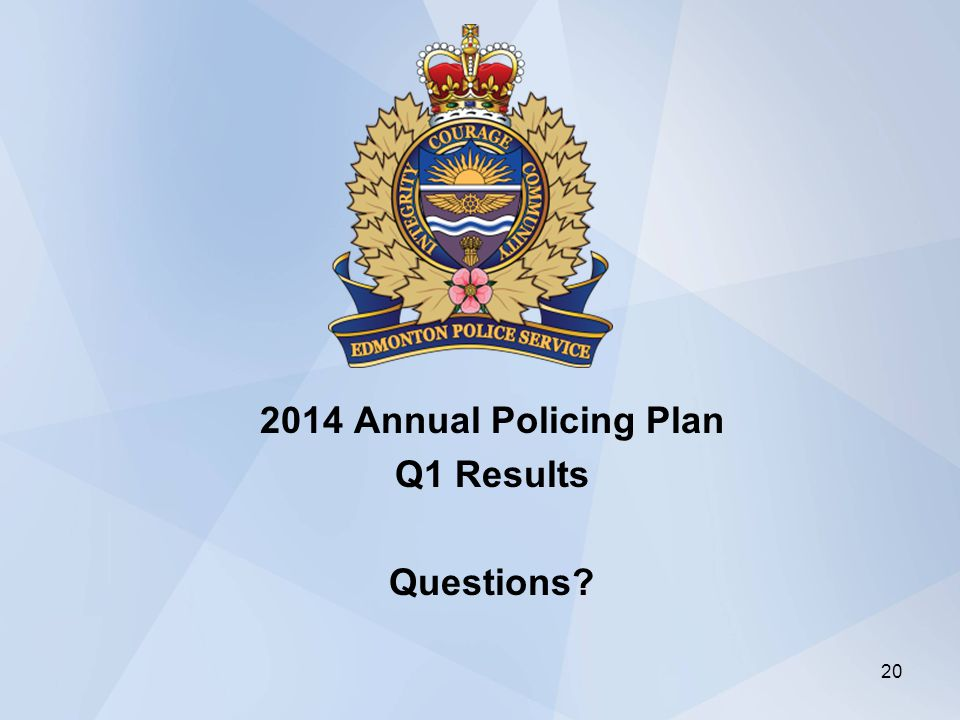 2014 Annual Policing Plan Q1 Results Questions 20