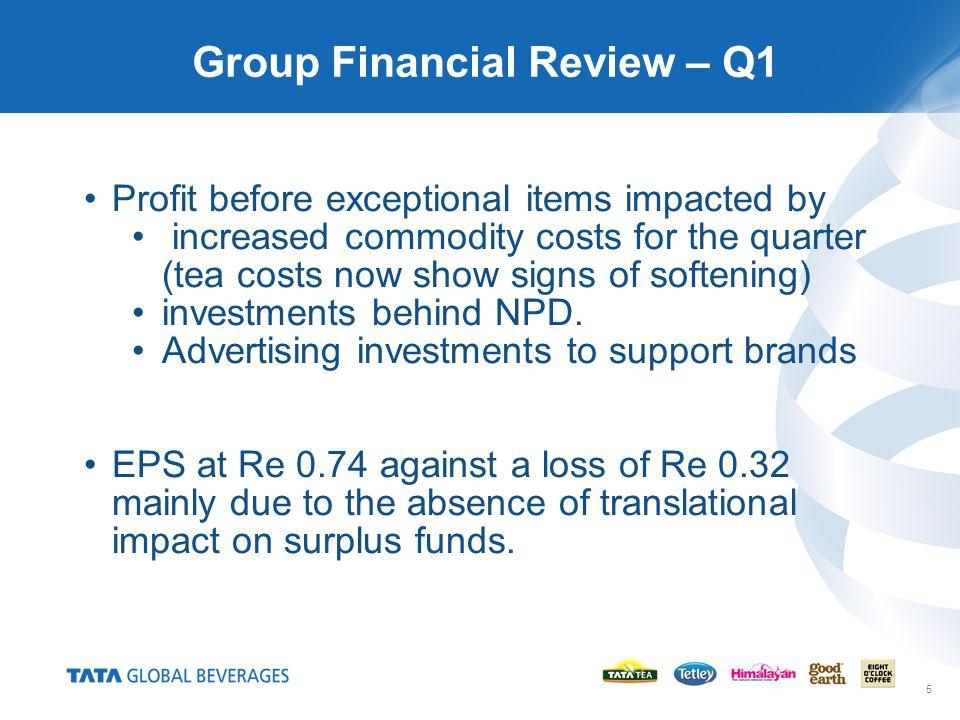 6 Group Performance Q1 2010