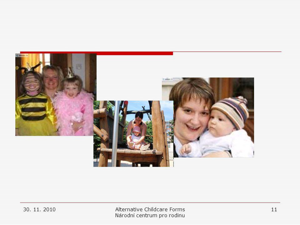 30. 11. 2010Alternative Childcare Forms Národní centrum pro rodinu 11