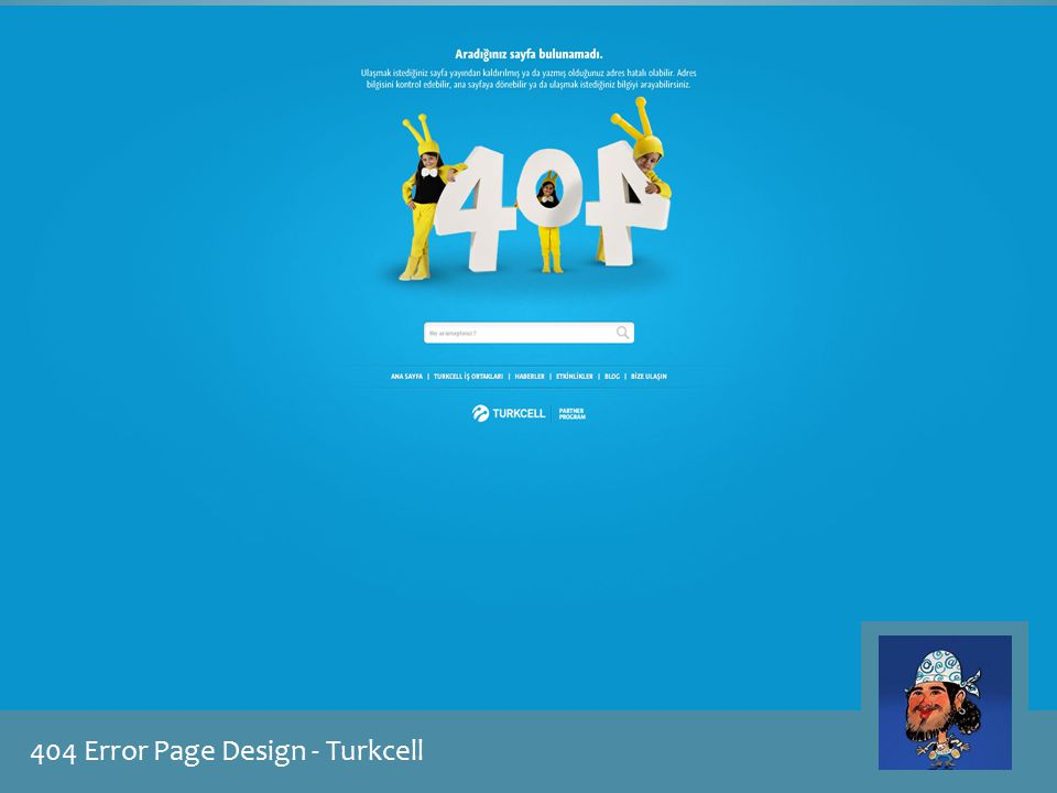 404 Error Page Design - Turkcell