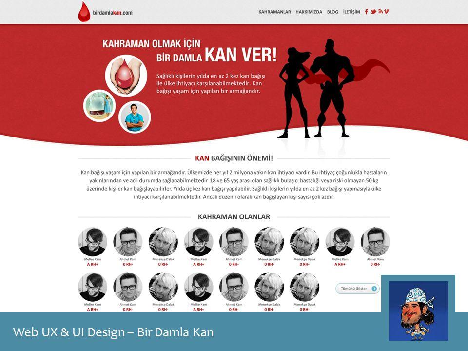 Web UX & UI Design – Bir Damla Kan