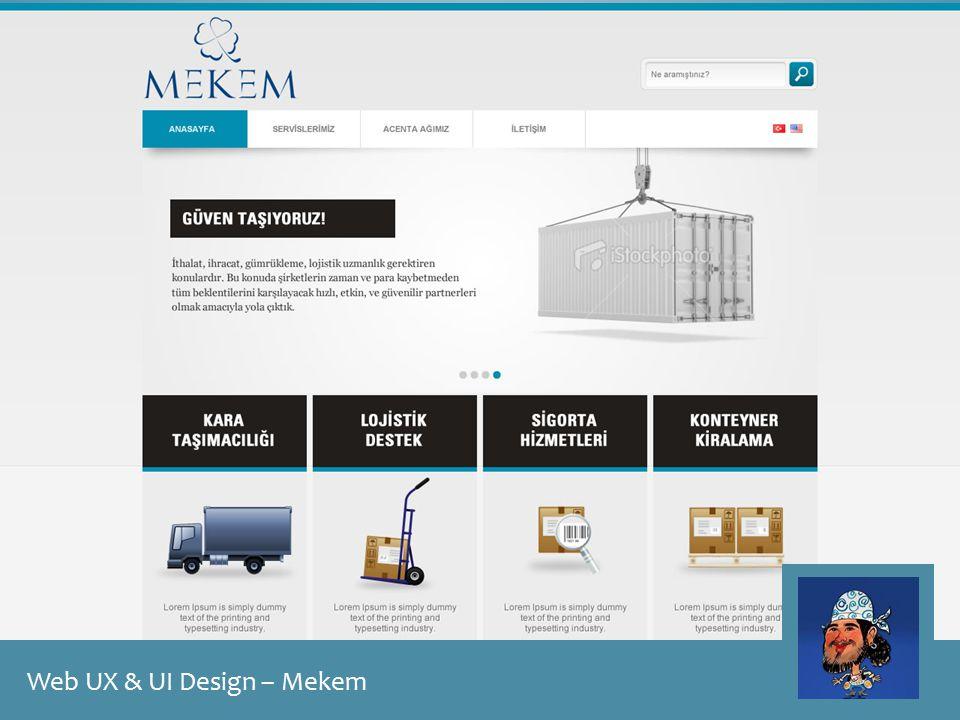 Web UX & UI Design – Mekem