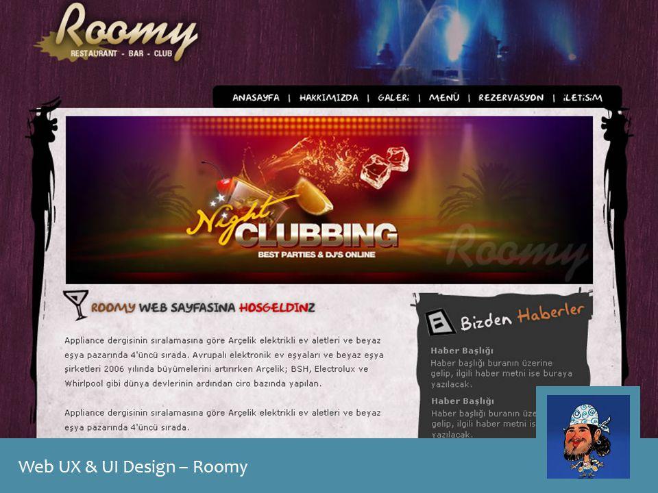 Web UX & UI Design – Roomy