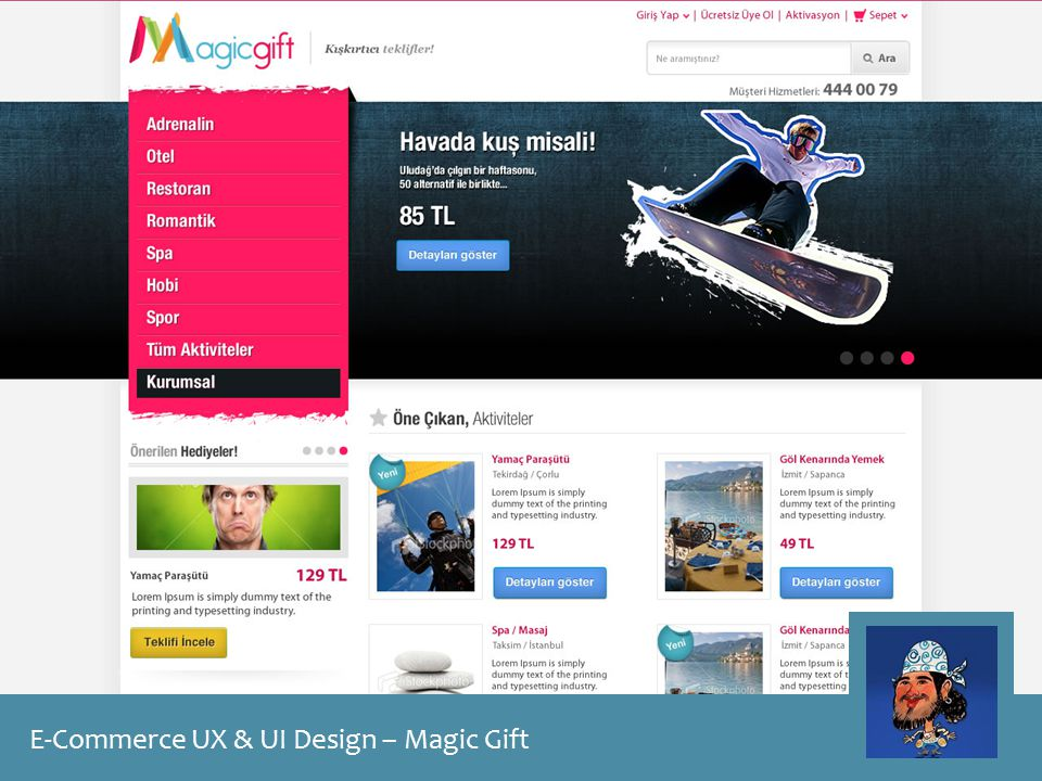 E-Commerce UX & UI Design – Magic Gift