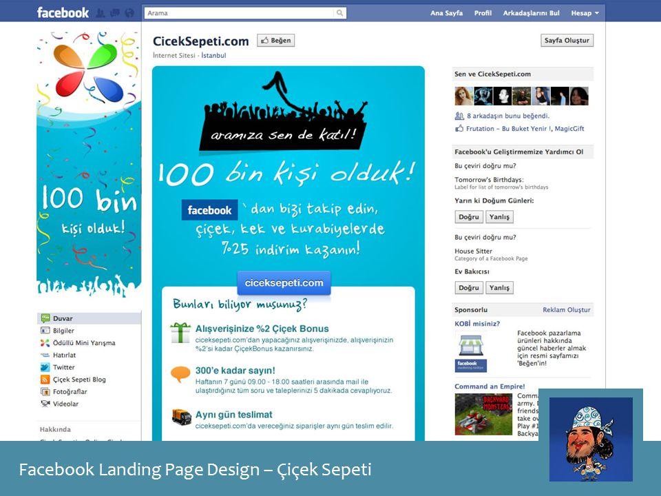 Facebook Landing Page Design – Çiçek Sepeti