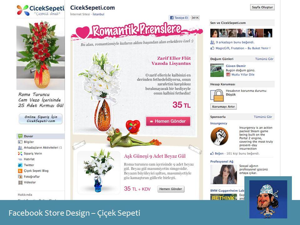 Facebook Store Design – Çiçek Sepeti