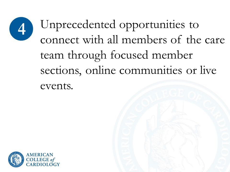 Unprecedented opportunities to connect with all members of the care team through focused member sections, online communities or live events.