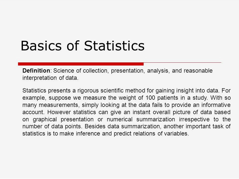 statistics basic terms definition