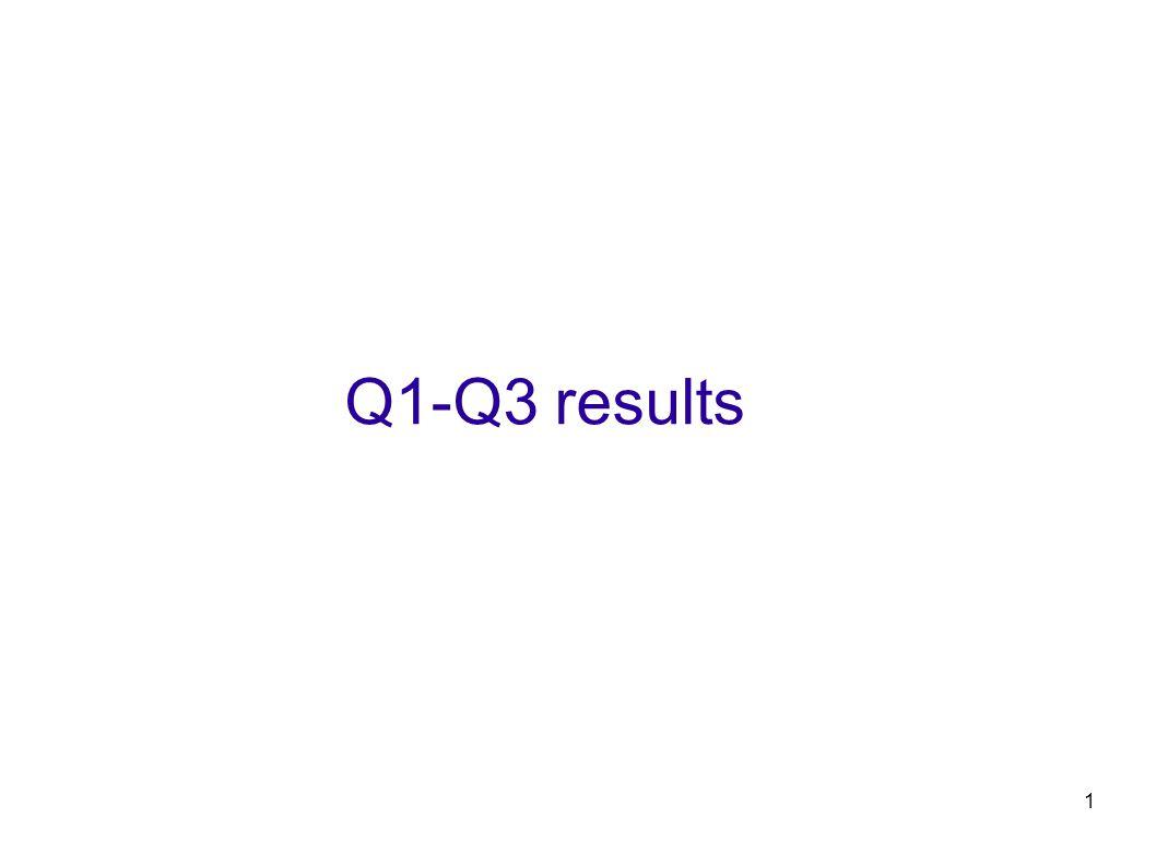 1 Q1-Q3 results