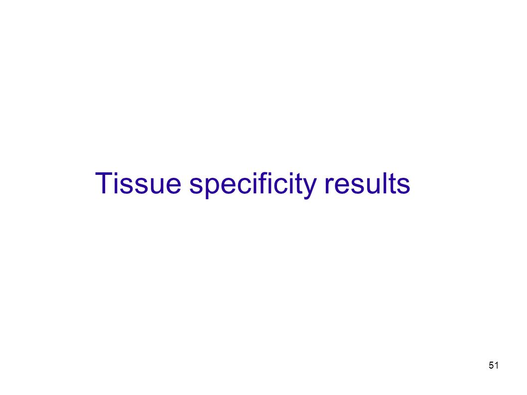 51 Tissue specificity results