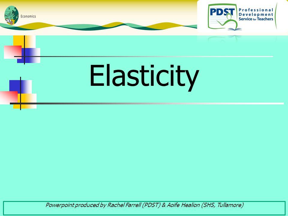 Elasticity Powerpoint produced by Rachel Farrell (PDST) & Aoife Healion (SHS, Tullamore)