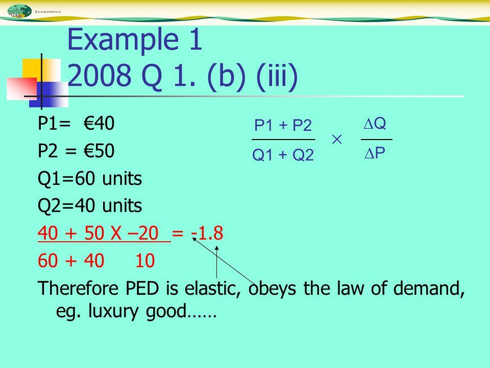 Example 1 2008 Q 1.