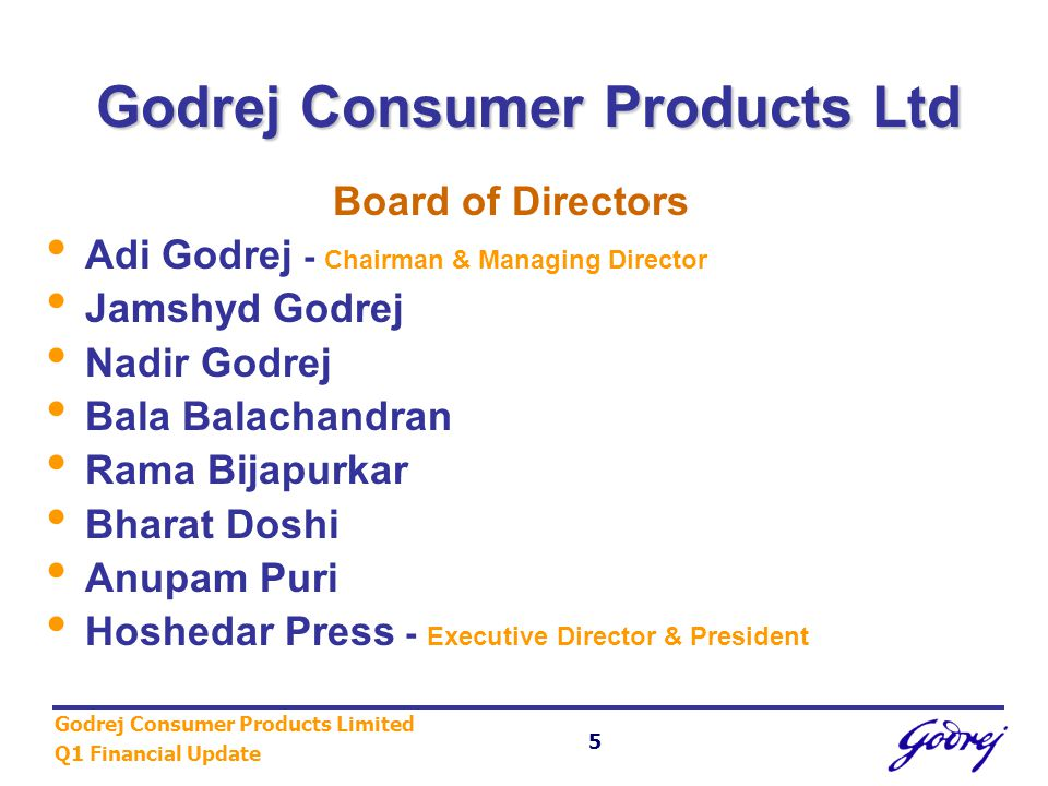 Godrej Consumer Products Limited Q1 Financial Update 16 Category Highlights Personal Care FAIRGLOW continues on its success path FAIRGLOW continues on its success path Re-launch of GODREJ NO1 with improved packaging has started showing results – growth of 318% by volume in Q1.