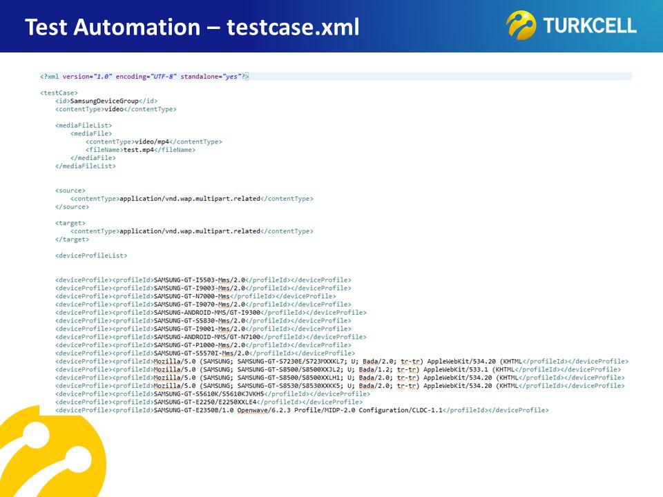 TURKCELL DAHİLİ Test Automation – testcase.xml