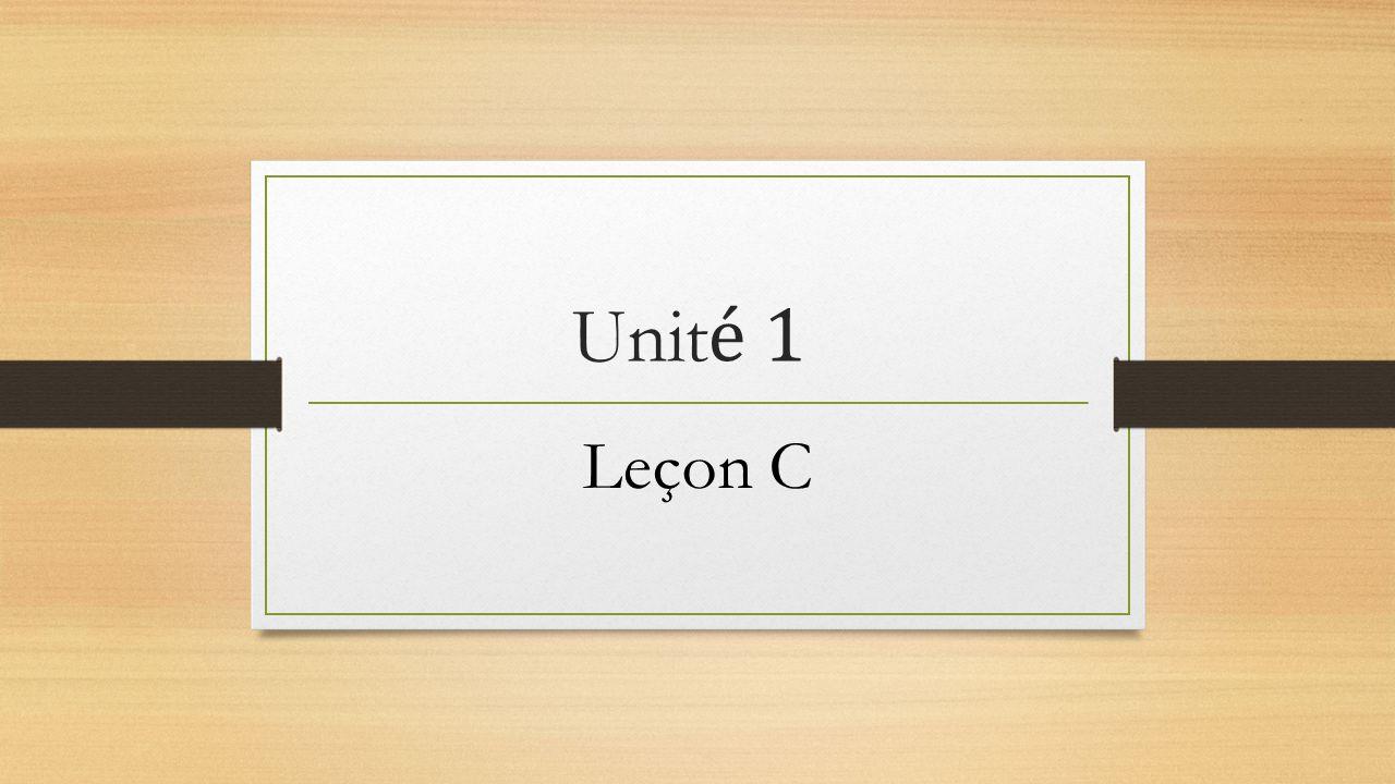 Leçon C