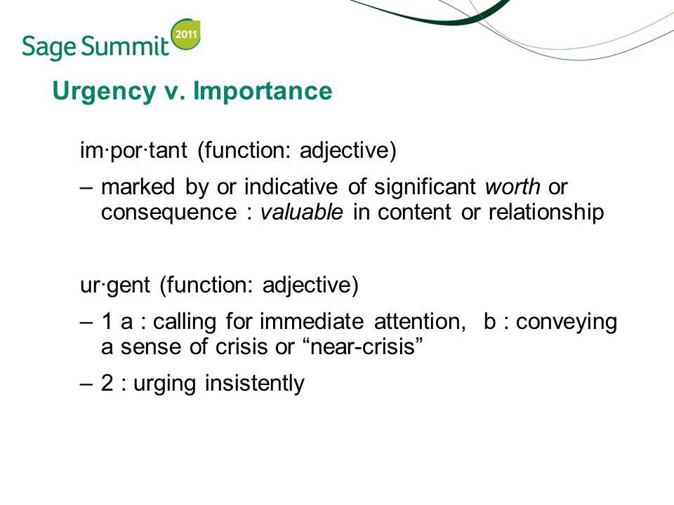 Urgency v.