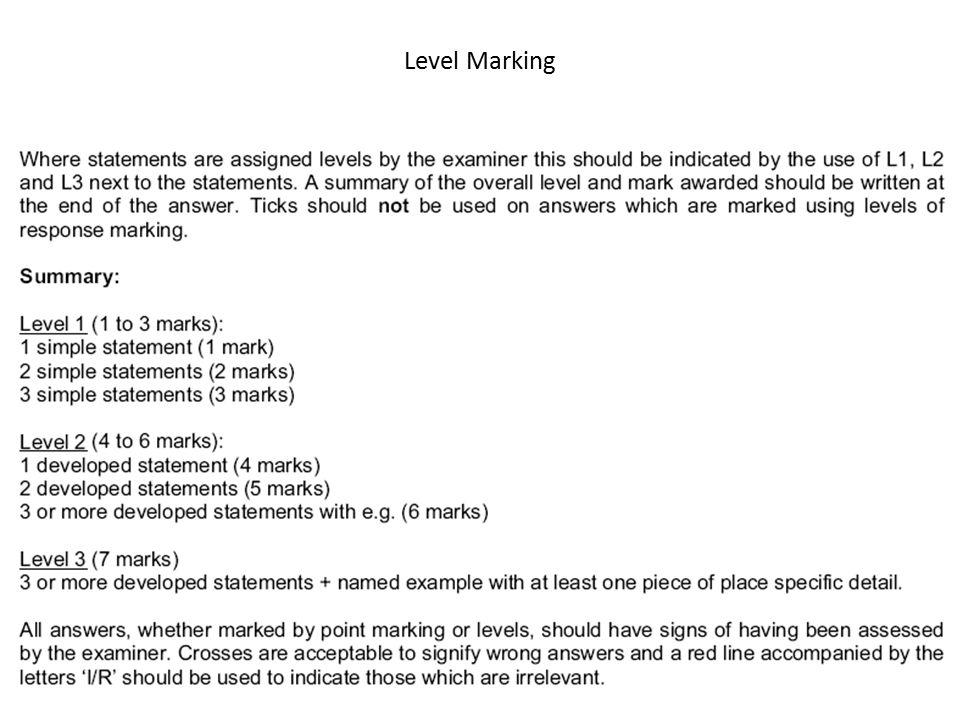 Level Marking