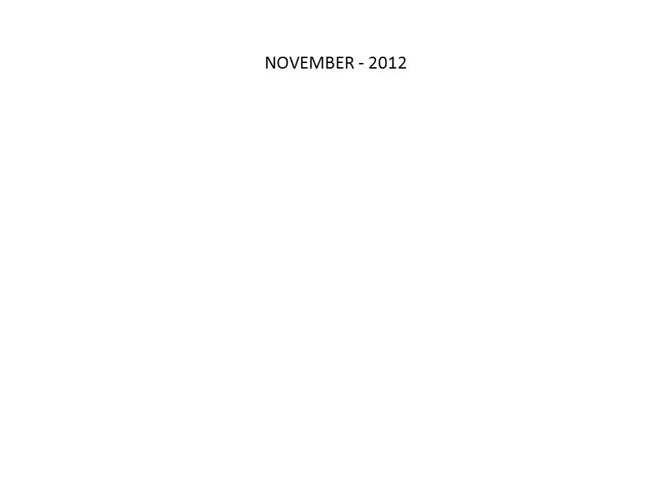 NOVEMBER - 2012