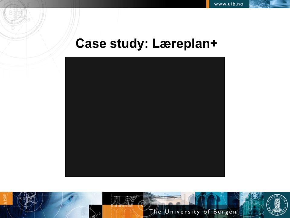 Case study: Læreplan+