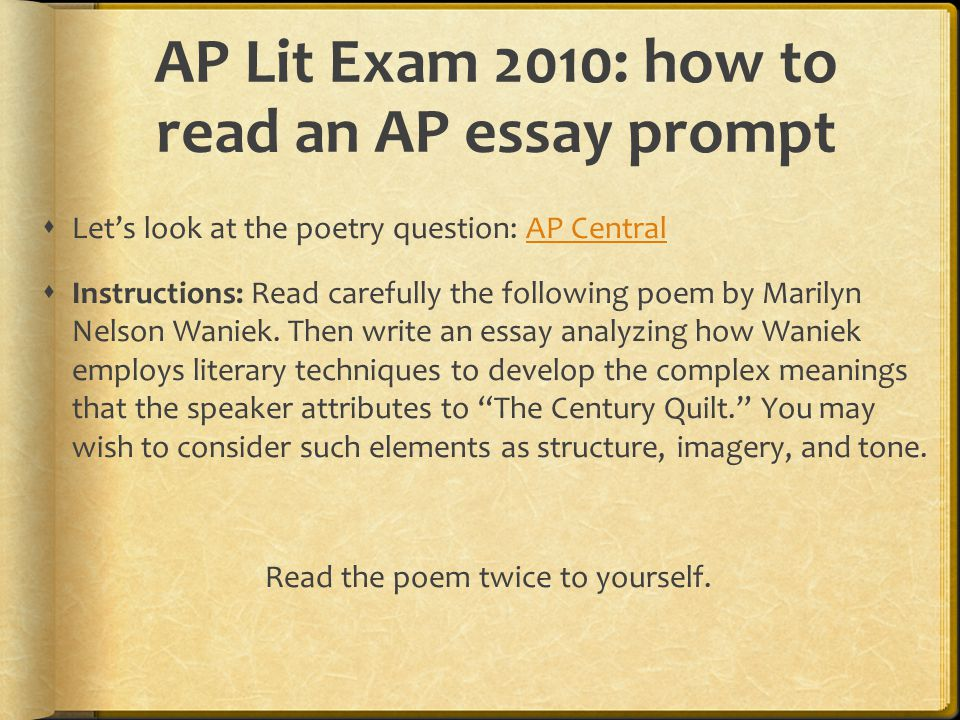 ap literature model essays How to write: ap rhetorical analysis paragraphs and essays things you must know in order to accurately analyze a text: 1 soaps 2 rhetorical strategies.