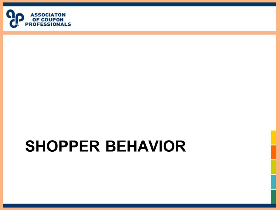 SHOPPER BEHAVIOR