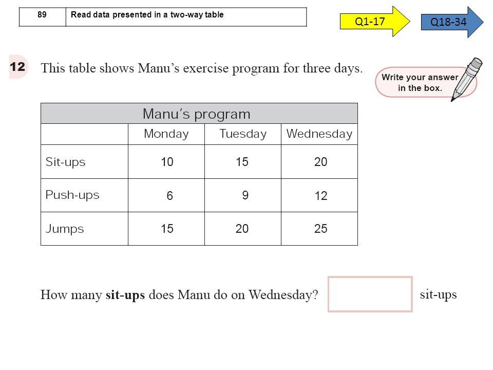 q4 1-1617-32 69 Calculate and interpret mean