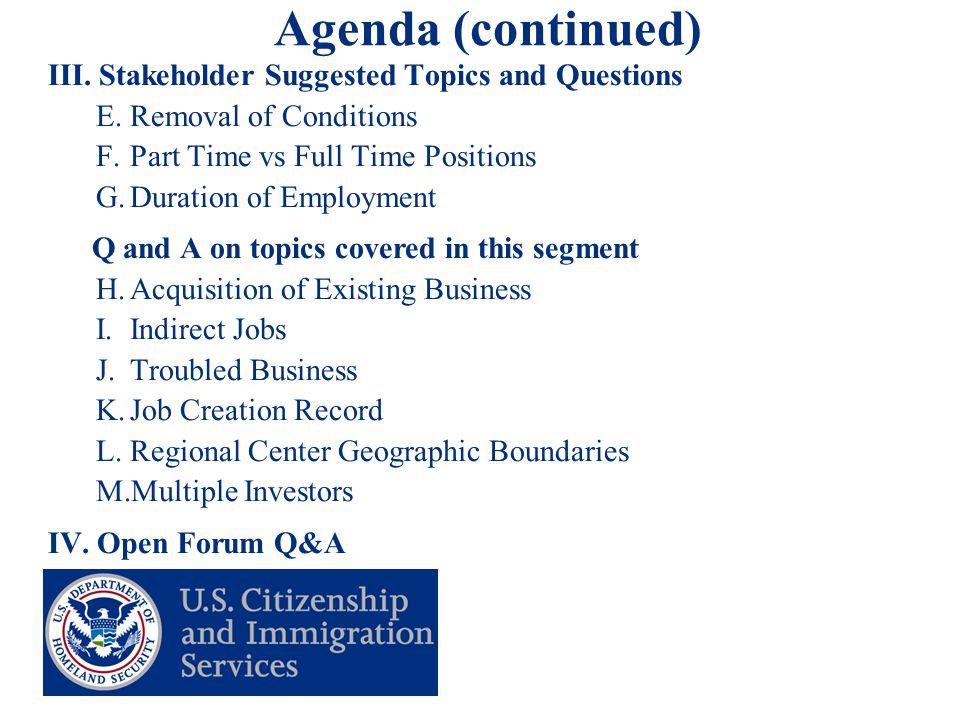 3 Agenda (continued) III.
