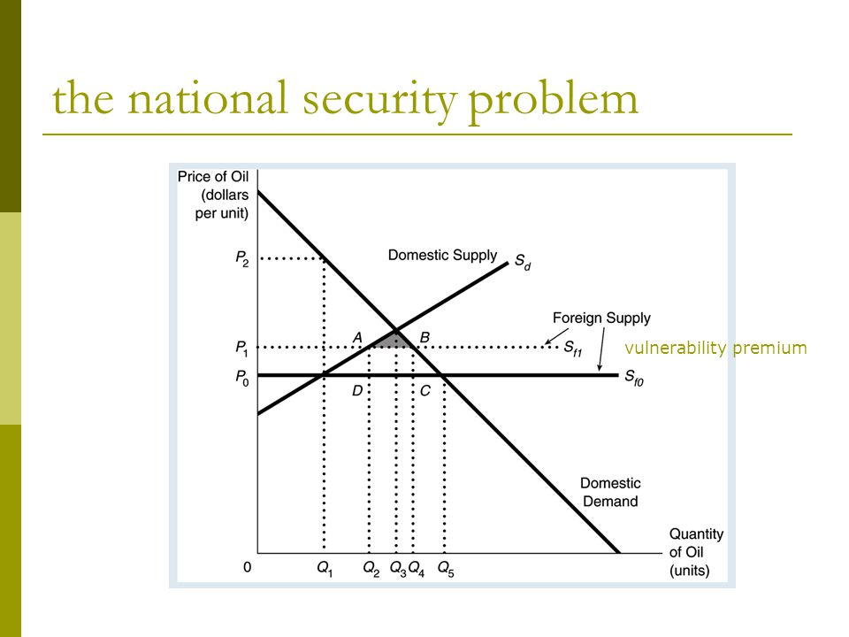 the national security problem vulnerability premium