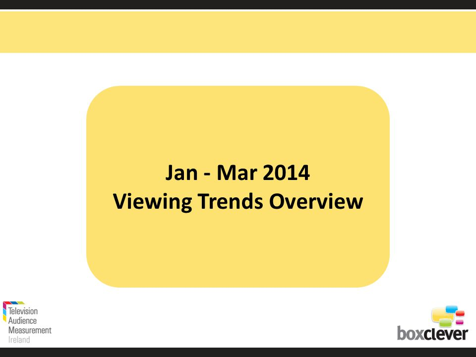 Jan - Mar 2014 Viewing Trends Overview