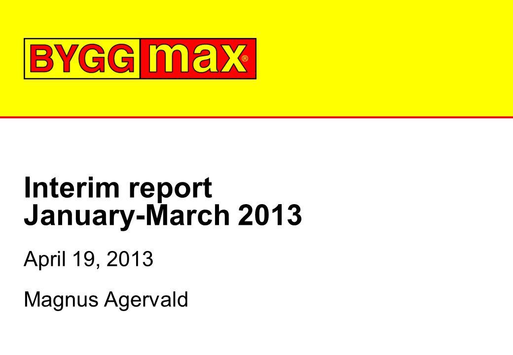 Interim report January-March 2013 April 19, 2013 Magnus Agervald