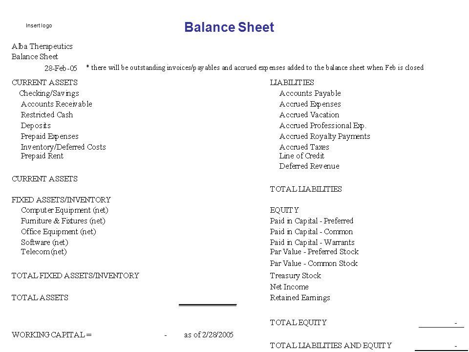 Balance Sheet Insert logo