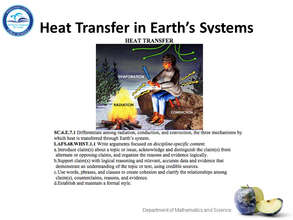 Heat Transfer in Earth's Systems 11 Department of Mathematics and Science