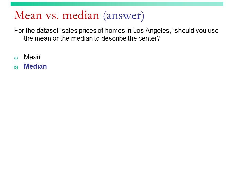 Mean vs.