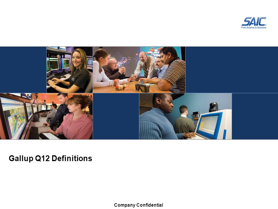 Gallup Q12 Definitions Company Confidential