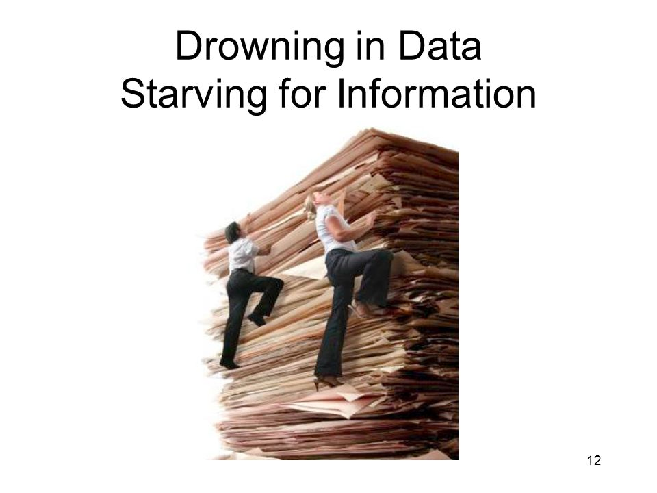 12 Drowning in Data Starving for Information