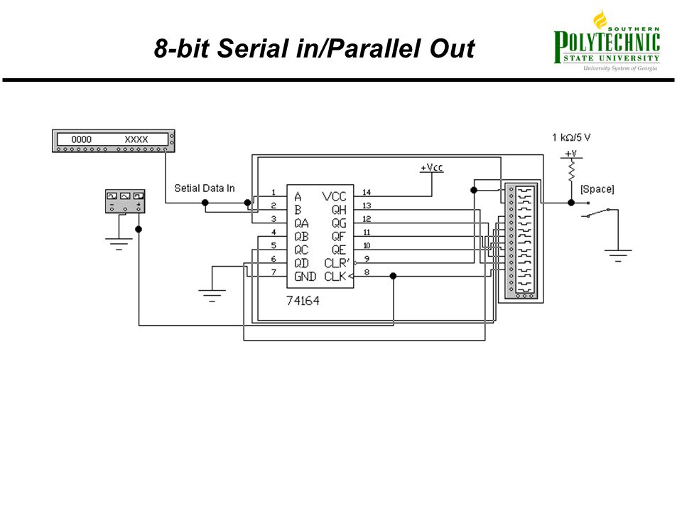 8-bit Serial in/Parallel Out