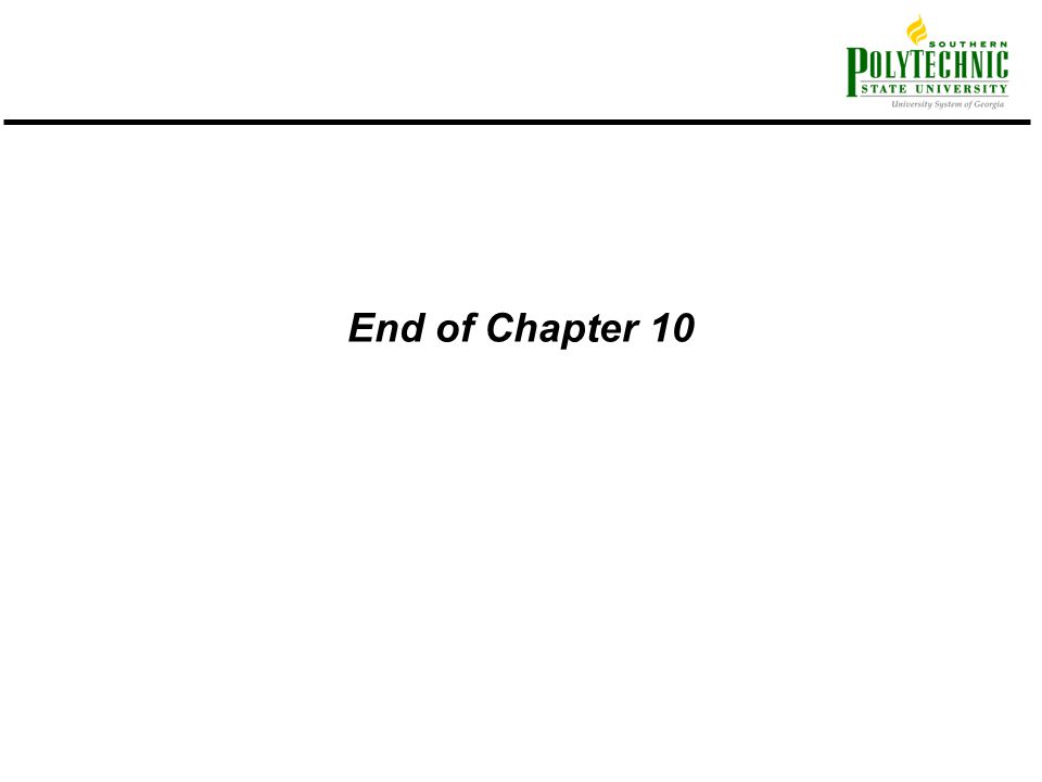 End of Chapter 10