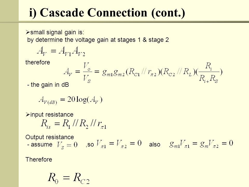 Exercise 1: Draw the ac equivalent circuit and calculate the voltage gain, input resistance and output resistance for the cascade BJT amplifier in above Figure.