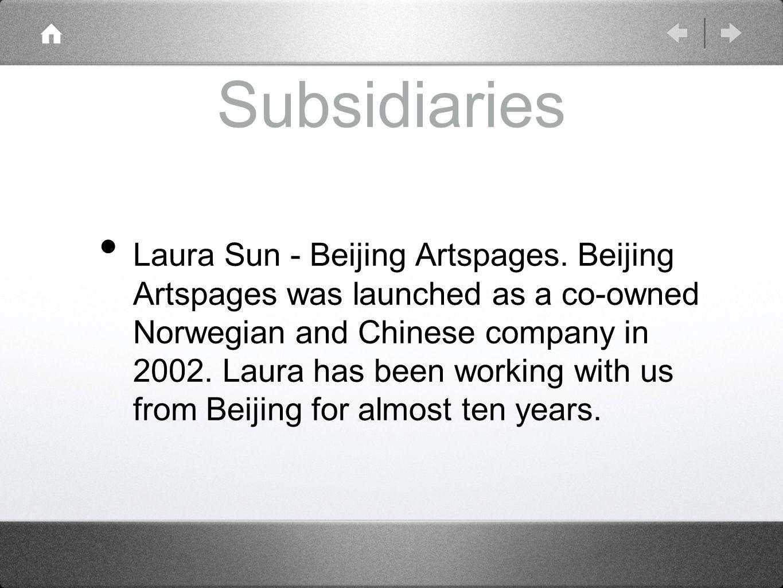 Subsidiaries Laura Sun - Beijing Artspages.
